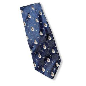 Hallmark 100% Silk Holiday Neck Tie Snowman